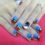 My Superman nails and ePure Masque by Milly's!
