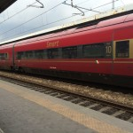 Traveling from Venice to Florence by Italo Train.