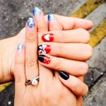 Mickey Mouse nails + Glitter Nails by Milly's
