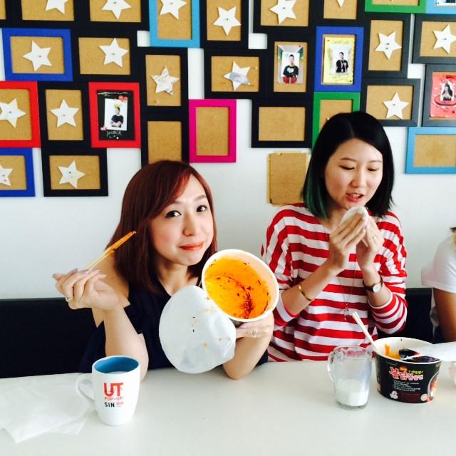 nadnut korean fire noodle challenge