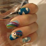 Sponsored review: Clouds and rainbow nails by Milly's